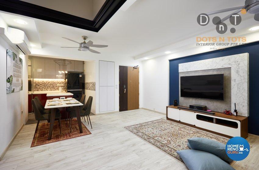 Design - Living Room - HDB 4 Room - Design by Dots n Tots Interior Pte Ltd