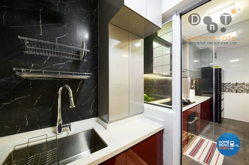 Design - Kitchen - HDB 4 Room - Design by Dots n Tots Interior Pte Ltd