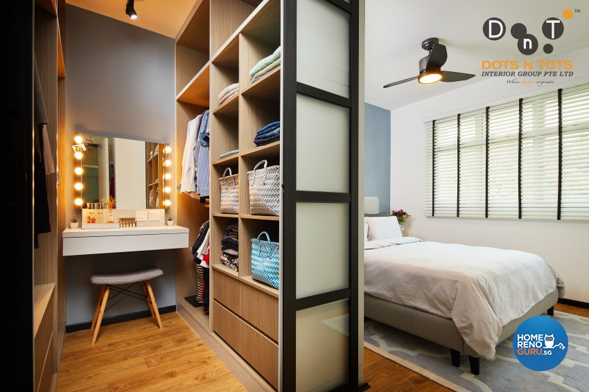 Modern Design - Bedroom - HDB 4 Room - Design by Dots n Tots Interior Pte Ltd
