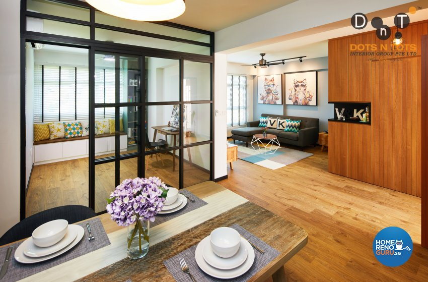 Modern Design - Dining Room - HDB 4 Room - Design by Dots n Tots Interior Pte Ltd