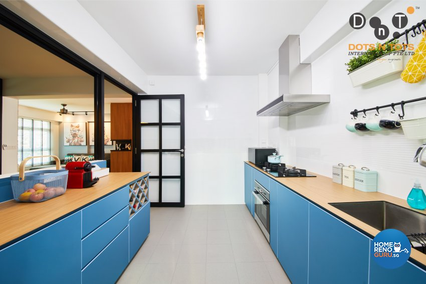Modern Design - Kitchen - HDB 4 Room - Design by Dots n Tots Interior Pte Ltd