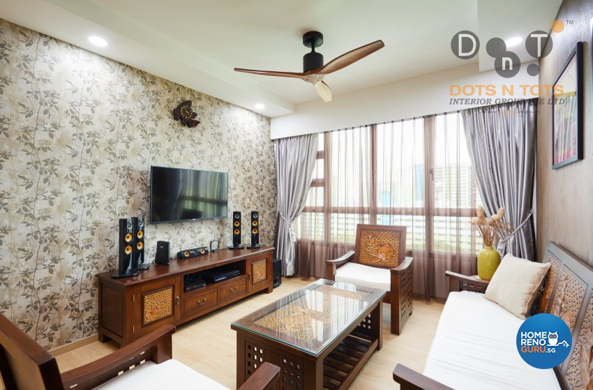 Modern Design - Living Room - HDB 5 Room - Design by Dots n Tots Interior Pte Ltd