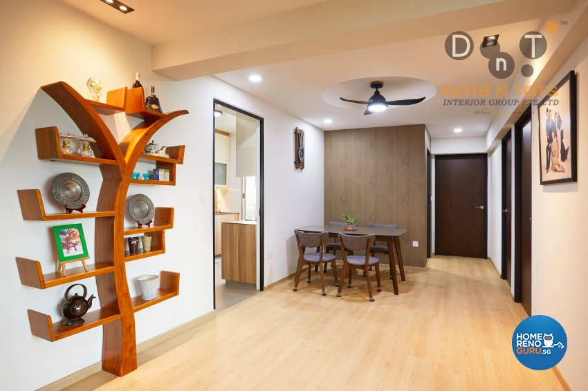 Modern Design - Dining Room - HDB 5 Room - Design by Dots n Tots Interior Pte Ltd