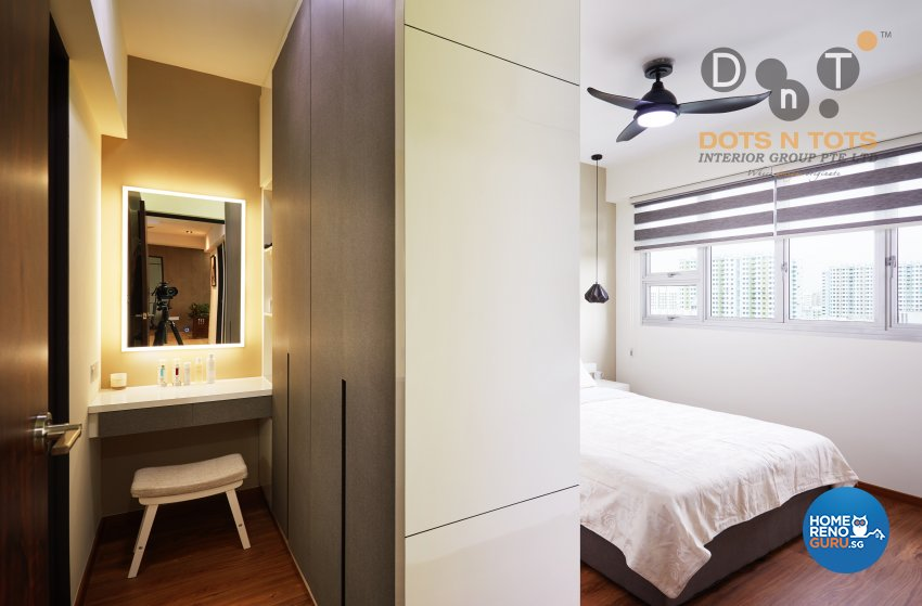 Modern Design - Bedroom - HDB 5 Room - Design by Dots n Tots Interior Pte Ltd