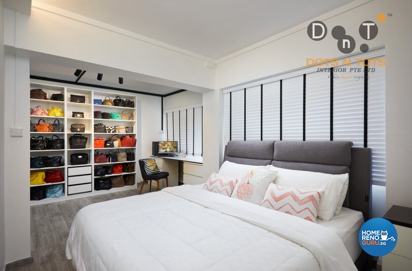 Contemporary, Minimalist Design - Bedroom - HDB 5 Room - Design by Dots n Tots Interior Pte Ltd