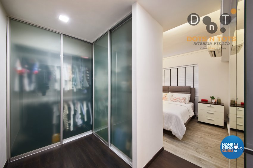 Contemporary, Minimalist Design - Bedroom - HDB 5 Room - Design by Dots n Tots Interior Pte Ltd