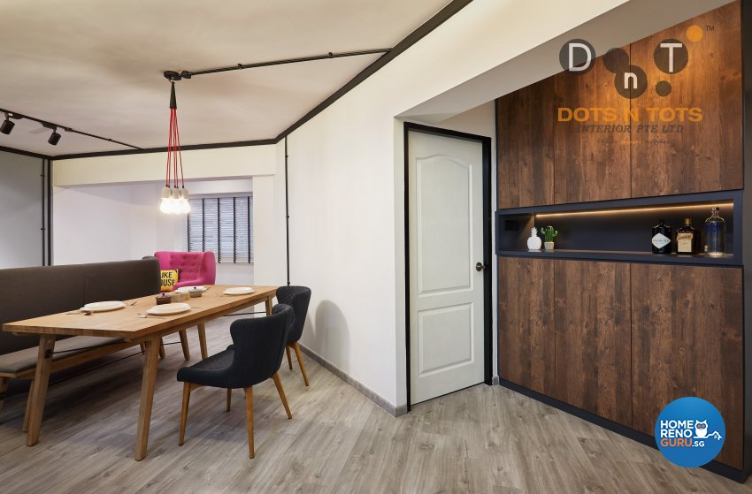Contemporary, Minimalist Design - Dining Room - HDB 5 Room - Design by Dots n Tots Interior Pte Ltd
