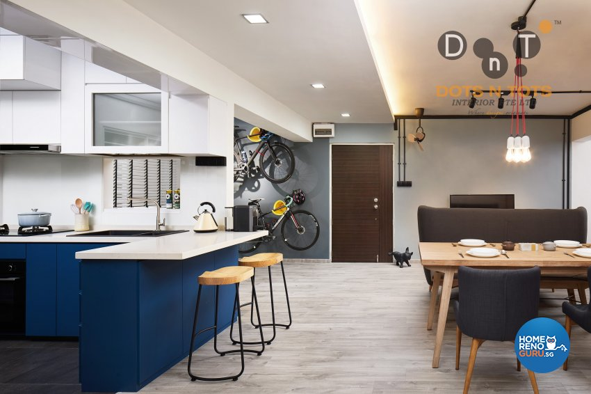 Contemporary, Minimalist Design - Kitchen - HDB 5 Room - Design by Dots n Tots Interior Pte Ltd