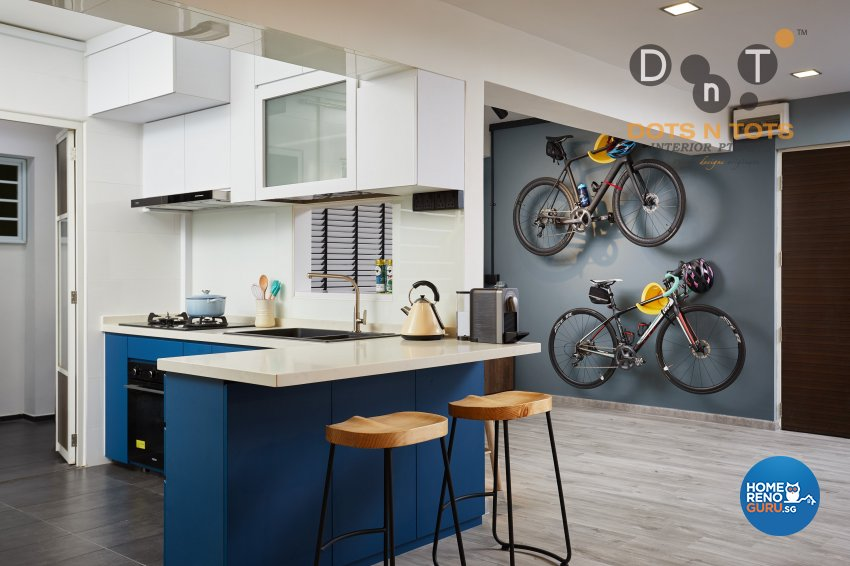 Contemporary, Minimalist Design - Kitchen - HDB 5 Room - Design by Dots n Tots Interior Pte Ltd