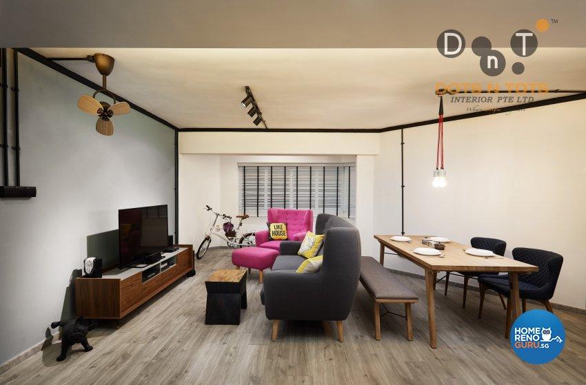 Contemporary, Minimalist Design - Living Room - HDB 5 Room - Design by Dots n Tots Interior Pte Ltd