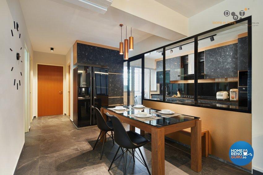 Contemporary, Modern Design - Dining Room - HDB 5 Room - Design by Dots n Tots Interior Pte Ltd