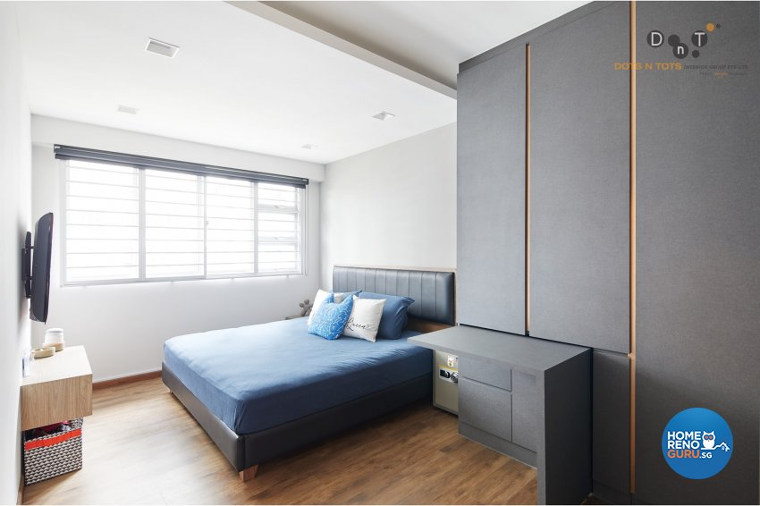 Contemporary, Modern Design - Bedroom - HDB 5 Room - Design by Dots n Tots Interior Pte Ltd