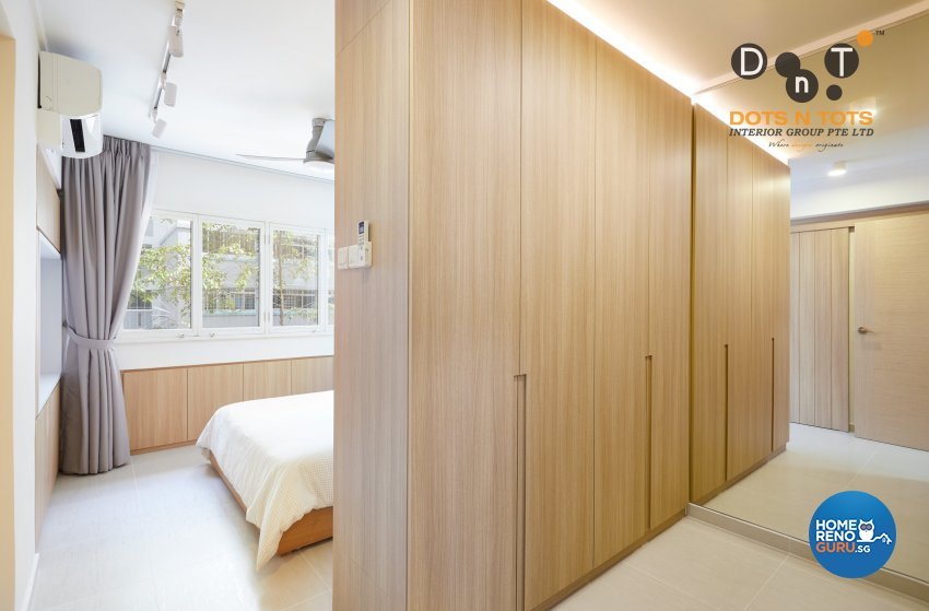 Minimalist Design - Bedroom - HDB 5 Room - Design by Dots n Tots Interior Pte Ltd