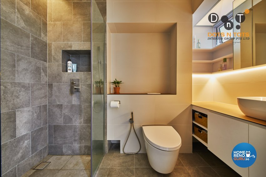 Minimalist Design - Bathroom - HDB 5 Room - Design by Dots n Tots Interior Pte Ltd
