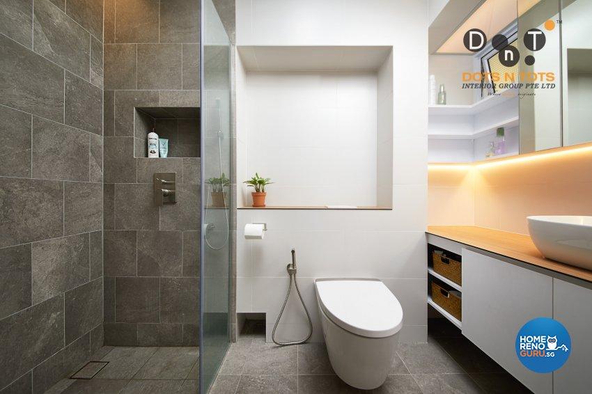 Minimalist Design - Bathroom - HDB 5 Room - Design by Dots n Tots Interior Pte Ltd