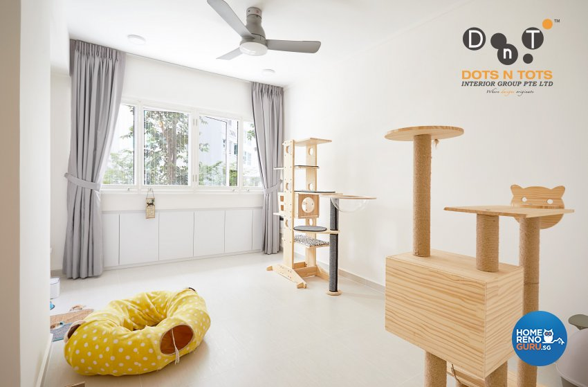 Minimalist Design - Study Room - HDB 5 Room - Design by Dots n Tots Interior Pte Ltd