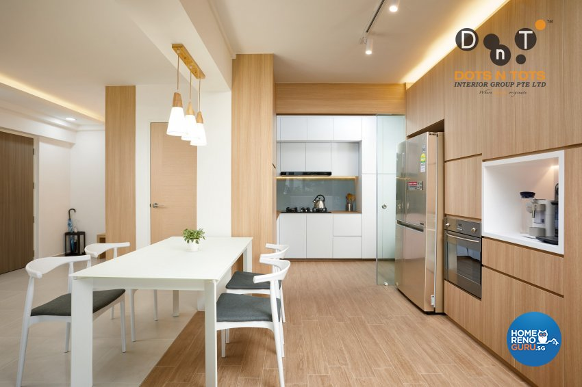 Minimalist Design - Kitchen - HDB 5 Room - Design by Dots n Tots Interior Pte Ltd