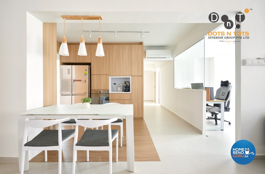 Minimalist Design - Dining Room - HDB 5 Room - Design by Dots n Tots Interior Pte Ltd