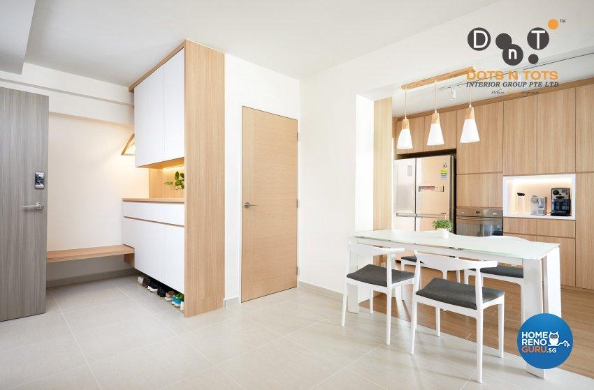 Minimalist Design - Dining Room - HDB 5 Room - Design by Dots n Tots Interior Pte Ltd