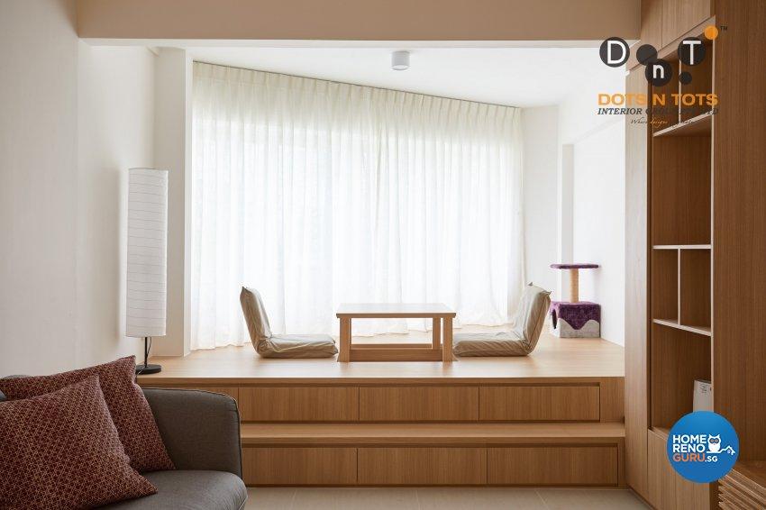 Minimalist Design - Living Room - HDB 5 Room - Design by Dots n Tots Interior Pte Ltd