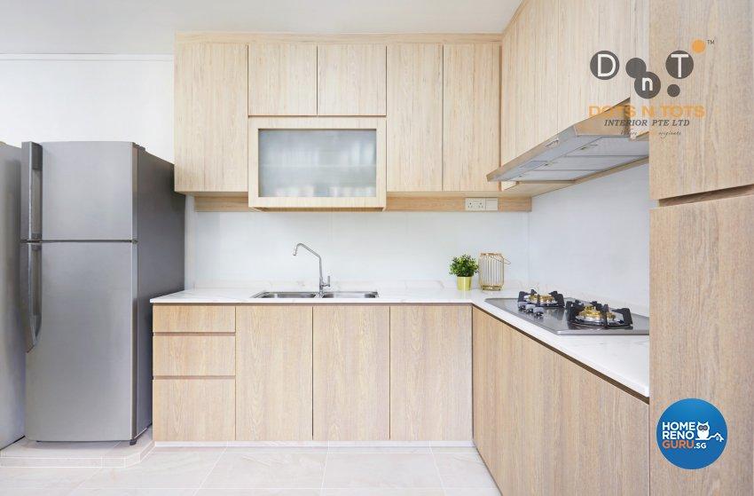 Contemporary, Scandinavian Design - Kitchen - HDB 5 Room - Design by Dots n Tots Interior Pte Ltd