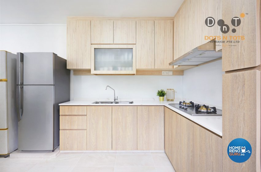 Contemporary, Scandinavian Design - Kitchen - HDB 5 Room - Design by Dots n Tots Interior Pte Ltd