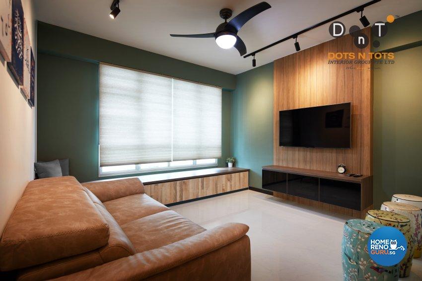 Contemporary Design - Living Room - HDB 5 Room - Design by Dots n Tots Interior Pte Ltd