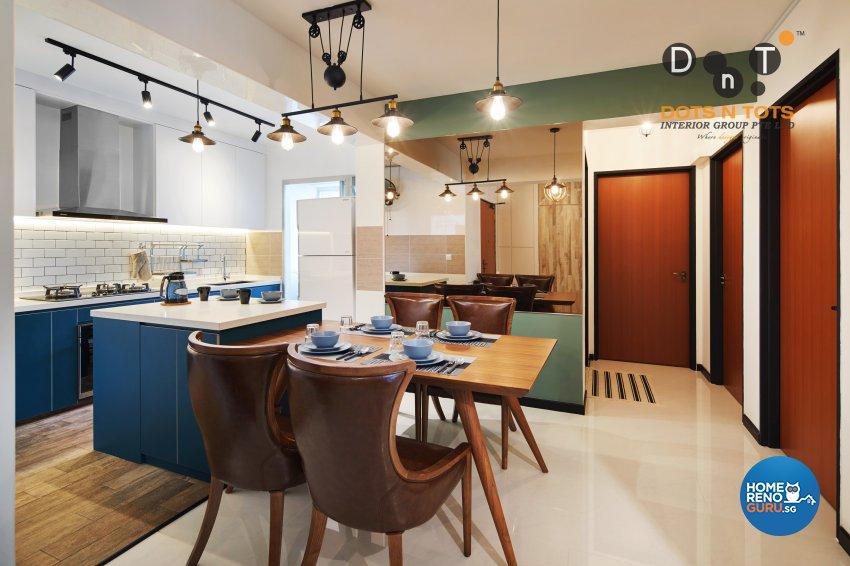 Contemporary Design - Dining Room - HDB 5 Room - Design by Dots n Tots Interior Pte Ltd
