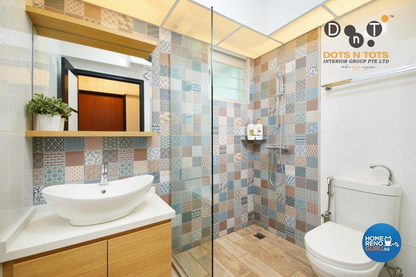 Contemporary Design - Bathroom - HDB 5 Room - Design by Dots n Tots Interior Pte Ltd