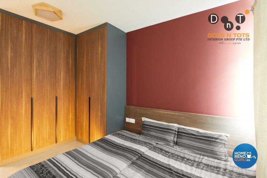 Contemporary Design - Bedroom - HDB 5 Room - Design by Dots n Tots Interior Pte Ltd