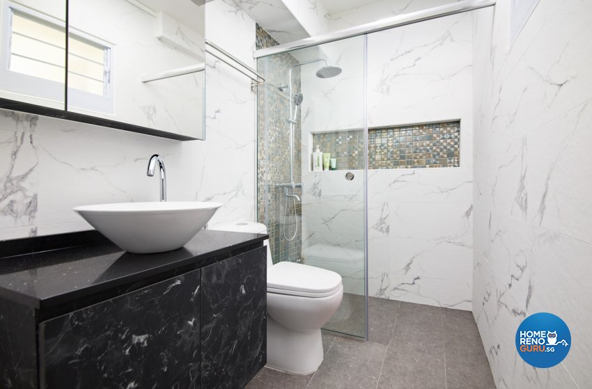 Contemporary, Modern Design - Bathroom - HDB 5 Room - Design by Dots n Tots Interior Pte Ltd