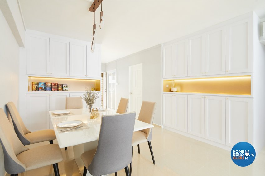 Contemporary, Modern Design - Dining Room - HDB 5 Room - Design by Dots n Tots Interior Pte Ltd