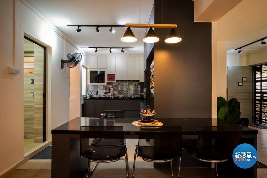 Contemporary, Modern Design - Kitchen - HDB 5 Room - Design by Dots n Tots Interior Pte Ltd