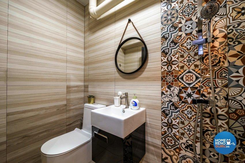 Contemporary, Modern Design - Bathroom - HDB 5 Room - Design by Dots n Tots Interior Pte Ltd
