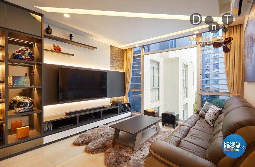 Modern, Scandinavian Design - Living Room - HDB 5 Room - Design by Dots n Tots Interior Pte Ltd