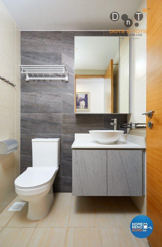Modern, Scandinavian Design - Bathroom - HDB 5 Room - Design by Dots n Tots Interior Pte Ltd