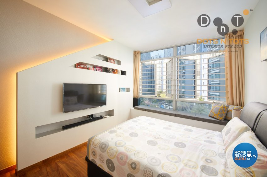 Modern, Scandinavian Design - Bedroom - HDB 5 Room - Design by Dots n Tots Interior Pte Ltd
