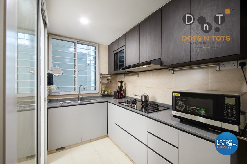 Modern, Scandinavian Design - Kitchen - HDB 5 Room - Design by Dots n Tots Interior Pte Ltd