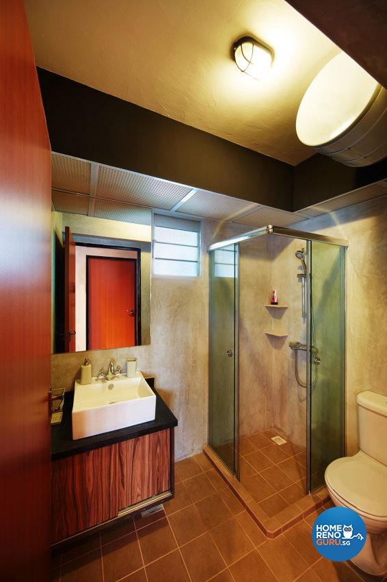Industrial, Retro Design - Bathroom - HDB 5 Room - Design by Dots n Tots Interior Pte Ltd