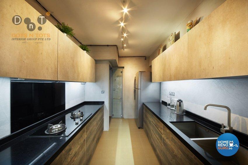 Industrial Design - Kitchen - HDB 3 Room - Design by Dots n Tots Interior Pte Ltd