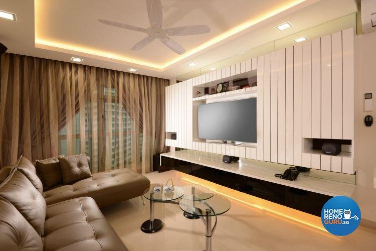 Minimalist, Scandinavian Design - Living Room - Condominium - Design by D'Planner Pte Ltd