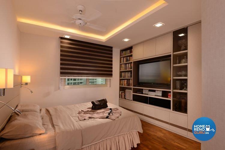 Minimalist, Scandinavian Design - Bedroom - Condominium - Design by D'Planner Pte Ltd