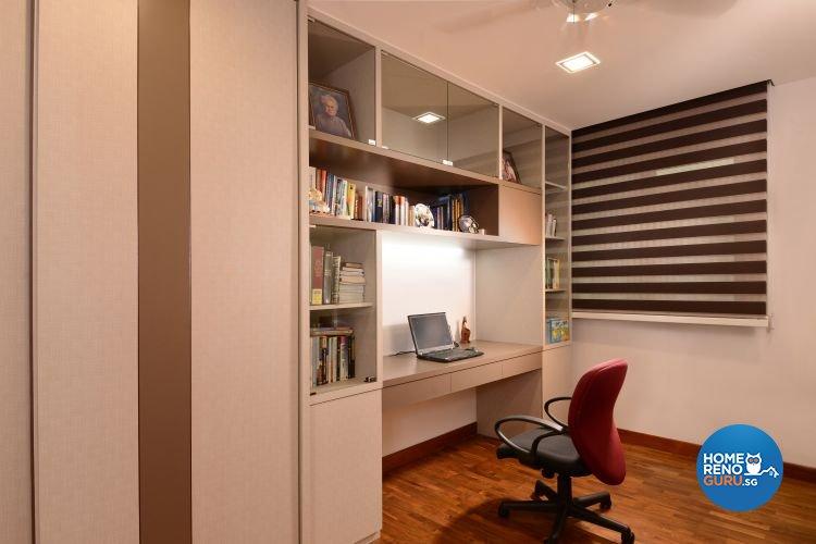 Minimalist, Scandinavian Design - Study Room - Condominium - Design by D'Planner Pte Ltd