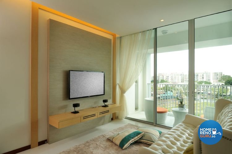 Classical, Contemporary Design - Living Room - Condominium - Design by D'Planner Pte Ltd