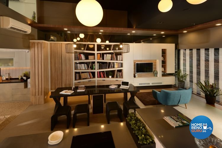 Contemporary, Industrial Design - Dining Room - Retail - Design by D'Planner Pte Ltd