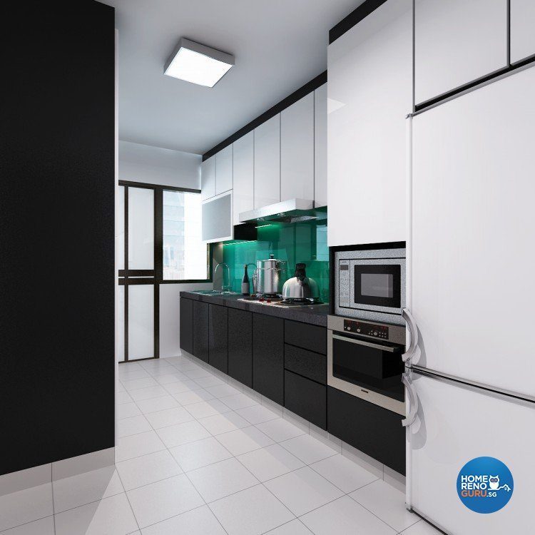 Contemporary, Modern Design - Kitchen - HDB 5 Room - Design by DreamCreations Interior Pte Ltd