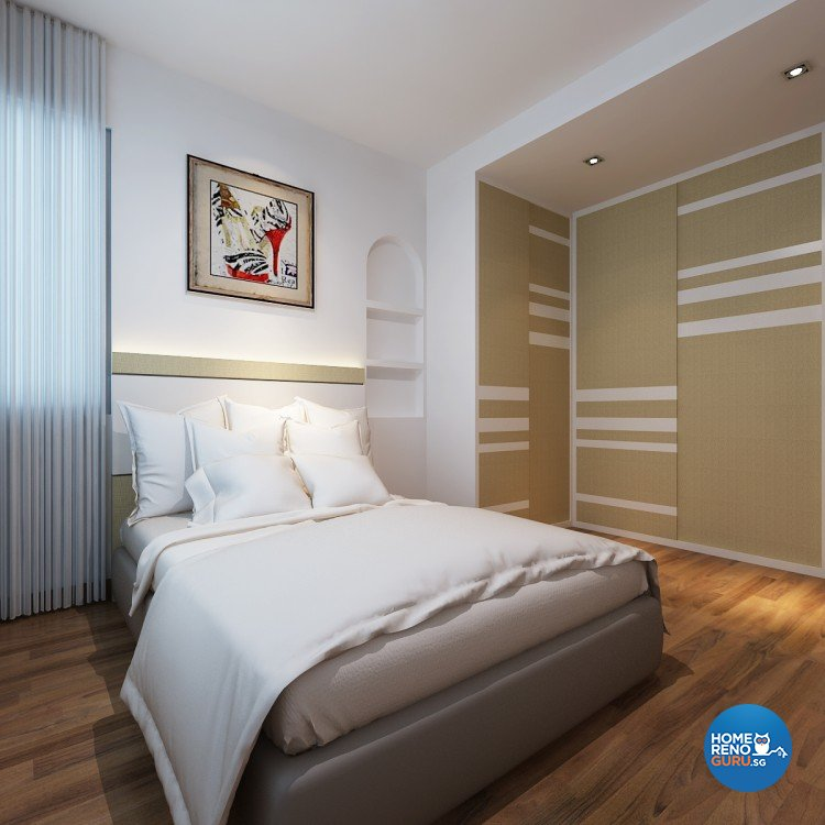 Contemporary, Modern Design - Bedroom - HDB 5 Room - Design by DreamCreations Interior Pte Ltd