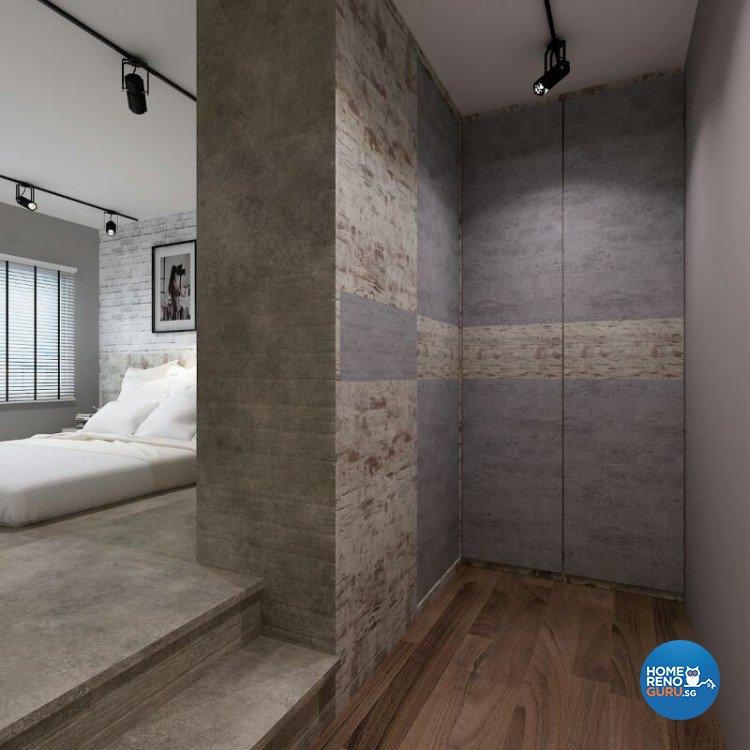Industrial, Modern Design - Bedroom - HDB 5 Room - Design by DreamCreations Interior Pte Ltd