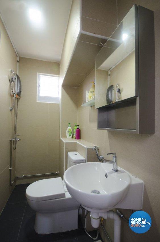 Minimalist Design - Bathroom - HDB 4 Room - Design by DreamCreations Interior Pte Ltd