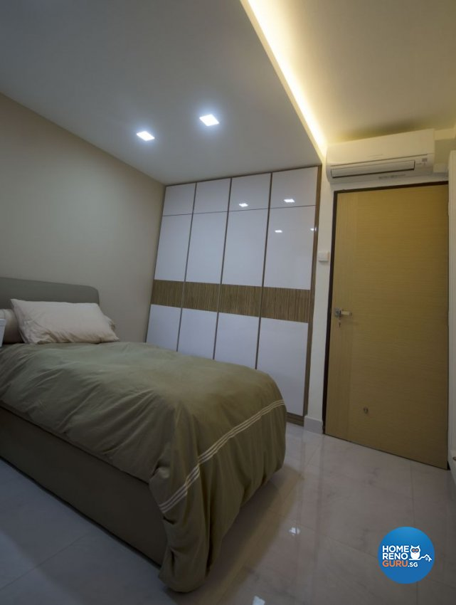 Minimalist Design - Bedroom - HDB 4 Room - Design by DreamCreations Interior Pte Ltd
